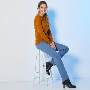 Blancheporte Tvarujúce nohavice, efekt plochého bruška modrosivá 46