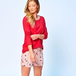 Blancheporte Pyžamové šortky s kvetinovým vzorom ružová 54