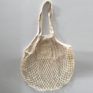 Blancheporte Sieťovaná bavlnená taška béžová