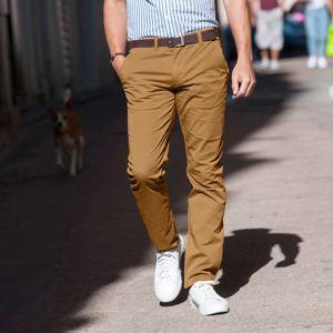 Blancheporte Chino jednofarebné nohavice karamelová 42