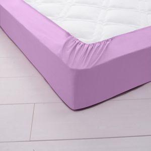 Blancheporte Jednofarebná napínacia posteľná plachta, džersej levanduľová 140x190cm