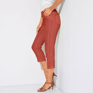 Blancheporte Strečové korzárska nohavice papriková 36
